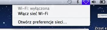 Łączenie zsiecią - krok 1A. Włączamy sieć Wi-Fi.